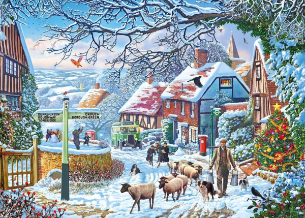 GIBSONS, G6250, 5012269062502, PUZZLE TEMATICO GIBSONS NATALE A WINTER STROLL 1000 PZ