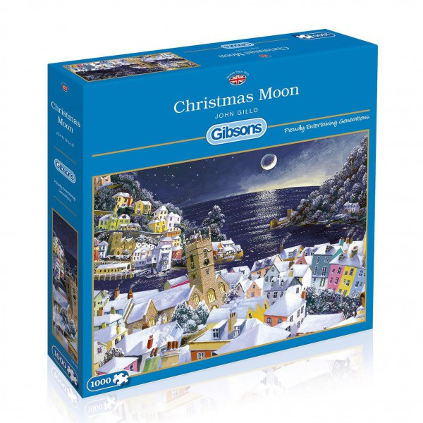 GIBSONS, G6198, 5012269061987, PUZZLE TEMATICO GIBSONS NATALE CHRISTMAS MOON 1000 PZ