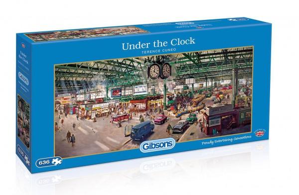GIBSONS, G4032, 5012269040326, PUZZLE MEZZI DI TRASPORTO GIBSONS TRENO UNDER THE CLOCK STAZIONE 636 PZ