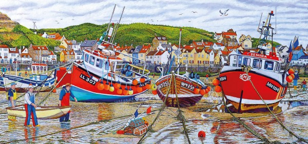 GIBSONS, G4045, 5012269040456, PUZZLE PAESAGGI GIBSONS PORTI SEAGULLS AT STAITHES 636 PZ