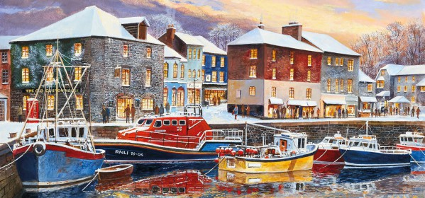 GIBSONS, G4039, 5012269040395, PUZZLE PAESAGGI GIBSONS PORTI PADSTOW IN WINTER 636 PZ