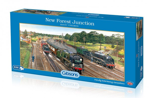 GIBSONS, G4018, 5012269040180, PUZZLE MEZZI DI TRASPORTO GIBSONS TRENO NEW FOREST JUNCTION 636 PZ