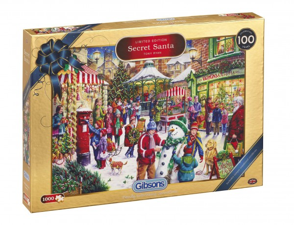 GIBSONS, G2019, 5012269020199, PUZZLE TEMATICO GIBSONS NATALE SECRET SANTA CHRISTMAS LIMITED EDITION 1000 PZ