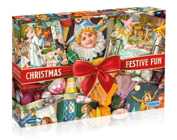 GIBSONS, G7094, 5012269070941, PUZZLE TEMATICO GIBSONS NATALE CHRISTMAS FESTIVE FUN 1000 PZ