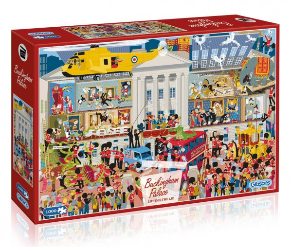 GIBSONS, G7097, 5012269070972, PUZZLE EDIFICI GIBSONS PALAZZI LIFTING THE LID - BUCKINGHAM PALACE 1000 PZ