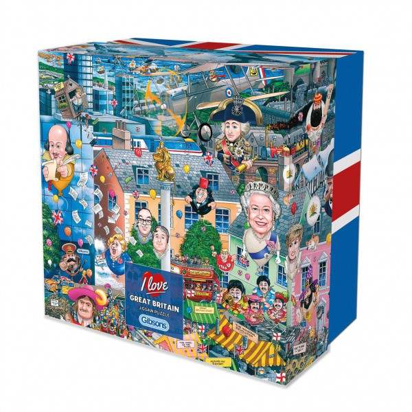 GIBSONS, G3419, 5012269034196, PUZZLE TEMATICO GIBSONS NAZIONI I LOVE GREAT BRITAIN 500 PZ