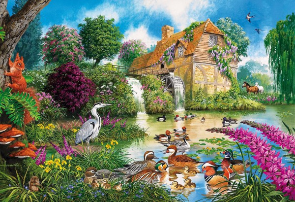 GIBSONS, G3422, 5012269034226, PUZZLE EDIFICI GIBSONS MULINI THE OLD WATERMILL 500 PZ