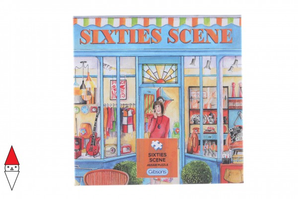 GIBSONS, G3423, 5012269034233, PUZZLE TEMATICO GIBSONS NEGOZI SIXTIES SCENE 500 PZ