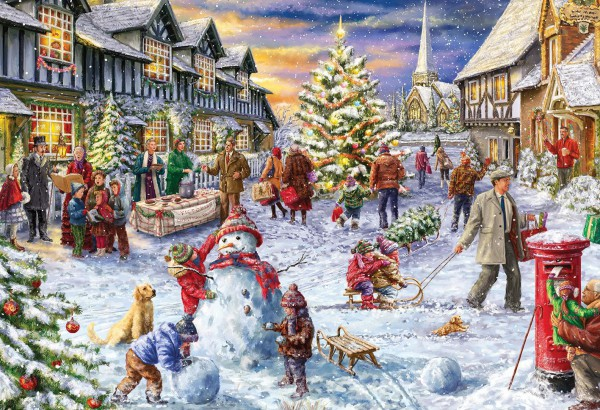 GIBSONS, G3409, 5012269034097, PUZZLE TEMATICO GIBSONS NATALE A WHITE CHRISTMAS 500 PZ