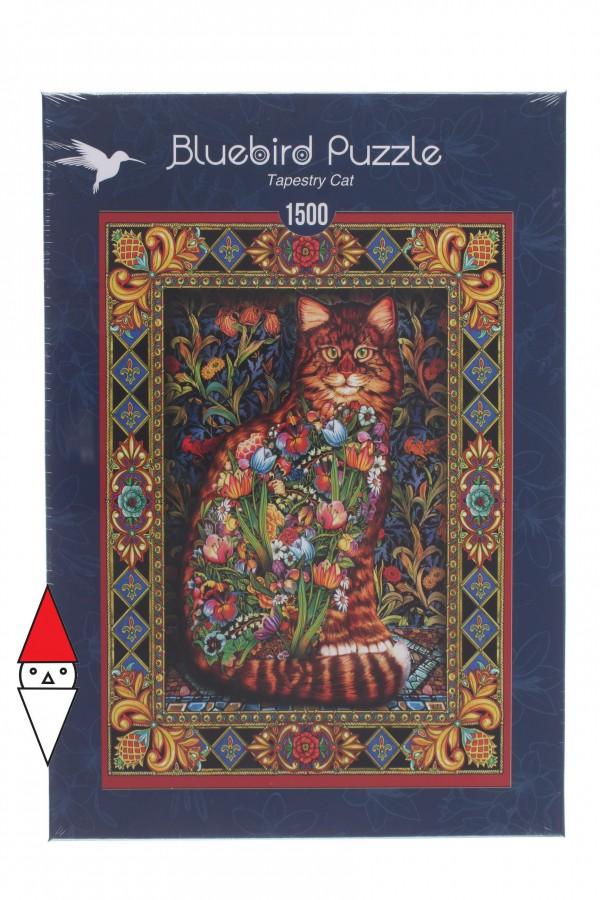 BLUEBIRD, Bluebird-Puzzle-70153, 3663384701535, PUZZLE ANIMALI BLUEBIRD GATTI TAPESTRY CAT 1500 PZ