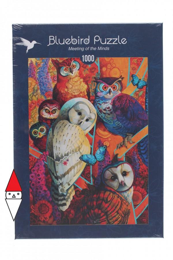 BLUEBIRD, BLUEBIRD-PUZZLE-70279, 3663384702792, PUZZLE ANIMALI BLUEBIRD GUFI MEETING OF THE MINDS 1000 PZ