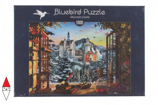 BLUEBIRD, BLUEBIRD-PUZZLE-70122, 3663384701221, PUZZLE EDIFICI BLUEBIRD CASTELLI E PALAZZI MOUNTAIN CASTLE 1000 PZ