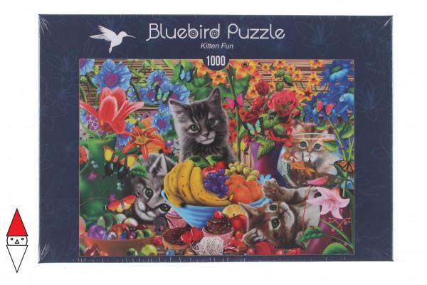 BLUEBIRD, BLUEBIRD-PUZZLE-70183, 3663384701832, PUZZLE ANIMALI BLUEBIRD GATTI KITTEN FUN 1000 PZ