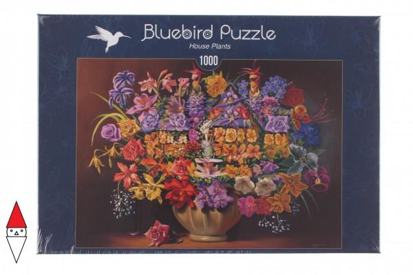 BLUEBIRD, BLUEBIRD-PUZZLE-70096, 3663384700965, PUZZLE TEMATICO BLUEBIRD FIORI E GIARDINI HOUSE PLANTS 1000 PZ