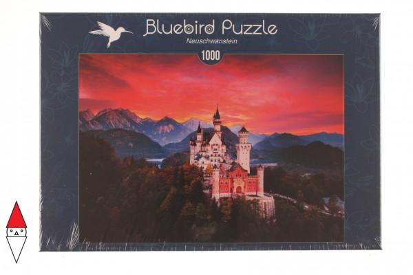 BLUEBIRD, BLUEBIRD-PUZZLE-70267, 3663384702679, PUZZLE EDIFICI BLUEBIRD CASTELLI E PALAZZI NEUSCHWANSTEIN 1000 PZ