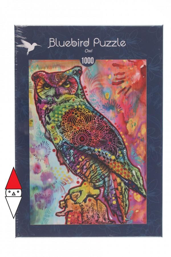 BLUEBIRD, BLUEBIRD-PUZZLE-70093, 3663384700934, PUZZLE ANIMALI BLUEBIRD GUFI OWL 1000 PZ