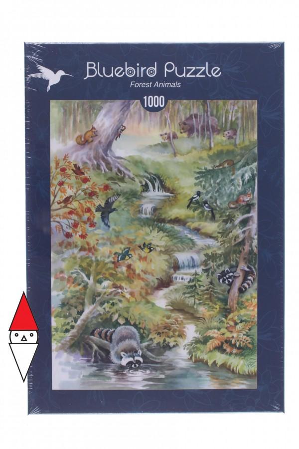 BLUEBIRD, BLUEBIRD-PUZZLE-70025, 3663384700255, PUZZLE ANIMALI BLUEBIRD FORESTA FOREST ANIMALS 1000 PZ