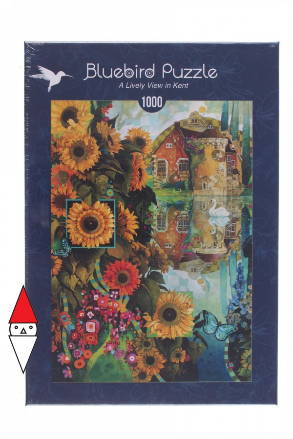 BLUEBIRD, BLUEBIRD-PUZZLE-70205, 3663384702051, PUZZLE PAESAGGI BLUEBIRD LAGHI A LIVELY VIEW IN KENT 1000 PZ