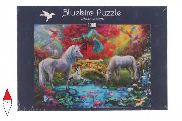 BLUEBIRD, BLUEBIRD-PUZZLE-70148, 3663384701481, PUZZLE GRAFICA BLUEBIRD FANTASY ORIENTAL UNICORNS 1000 PZ