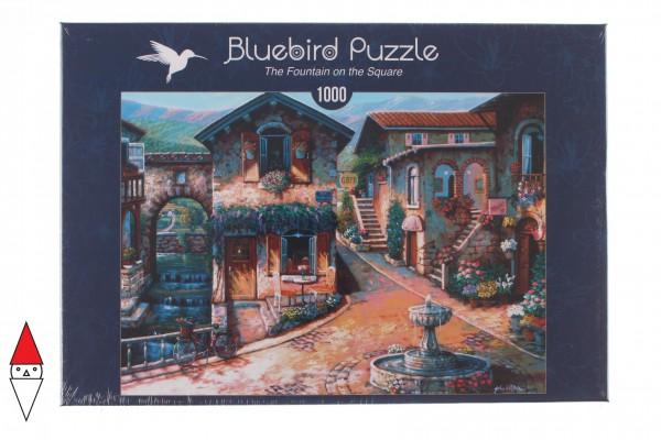 BLUEBIRD, BLUEBIRD-PUZZLE-70120, 3663384701207, PUZZLE PAESAGGI BLUEBIRD VILLAGGI THE FOUNTAIN ON THE SQUARE 1000 PZ