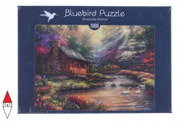BLUEBIRD, BLUEBIRD-PUZZLE-70206, 3663384702068, PUZZLE EDIFICI BLUEBIRD COTTAGES E CHALETS BROOKSIDE RETREAT 1000 PZ