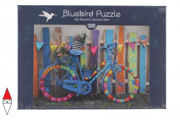 BLUEBIRD, BLUEBIRD-PUZZLE-70010, 3663384700101, PUZZLE MEZZI DI TRASPORTO BLUEBIRD MY BEAUTIFUL COLORFUL BIKE 1000 PZ