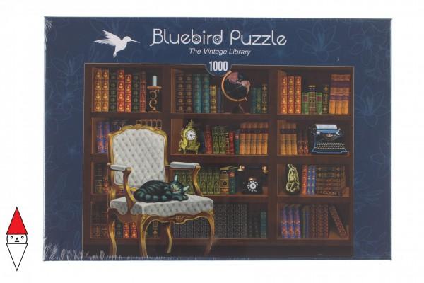 BLUEBIRD, BLUEBIRD-PUZZLE-70225, 3663384702259, PUZZLE OGGETTI BLUEBIRD LIBRERIA THE VINTAGE LIBRARY 1000 PZ