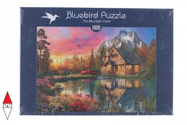 BLUEBIRD, BLUEBIRD-PUZZLE-70164, 3663384701641, PUZZLE EDIFICI BLUEBIRD COTTAGES E CHALETS THE MOUNTAIN CABIN 1000 PZ