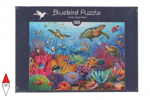 BLUEBIRD, BLUEBIRD-PUZZLE-70159, 3663384701597, PUZZLE TEMATICO BLUEBIRD FONDALI MARINI TURTLE CORAL REEF 1000 PZ