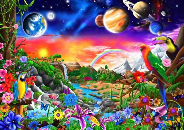 BLUEBIRD, BLUEBIRD-PUZZLE-70151, 3663384701511, PUZZLE PAESAGGI BLUEBIRD FANTASY COSMIC PARADISE 1000 PZ