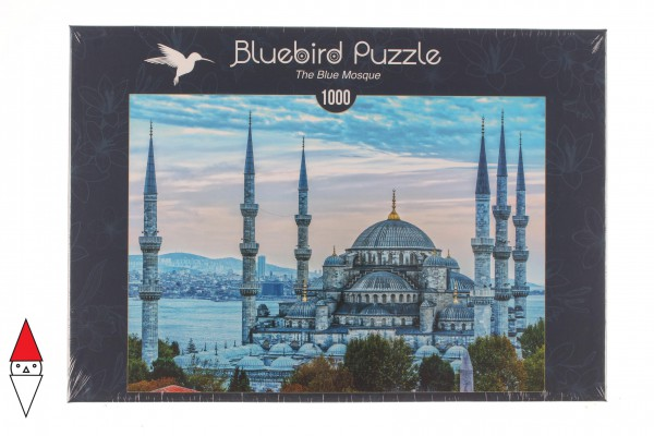 BLUEBIRD, BLUEBIRD-PUZZLE-70271, 3663384702716, PUZZLE EDIFICI BLUEBIRD CHIESE E CATTEDRALI THE BLUE MOSQUE 1000 PZ