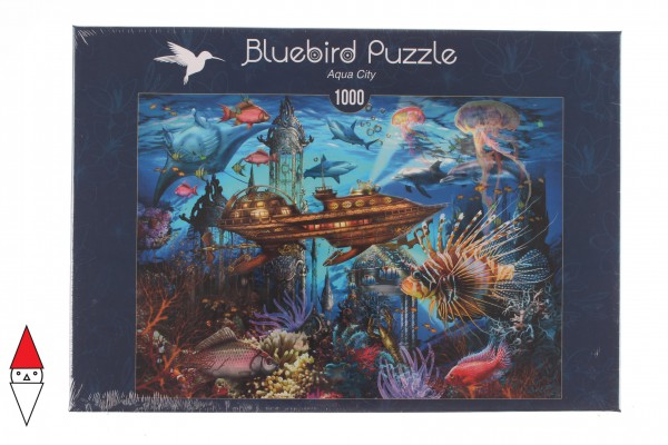 BLUEBIRD, BLUEBIRD-PUZZLE-70121, 3663384701214, PUZZLE PAESAGGI BLUEBIRD FONDALI MARINI AQUA CITY 1000 PZ