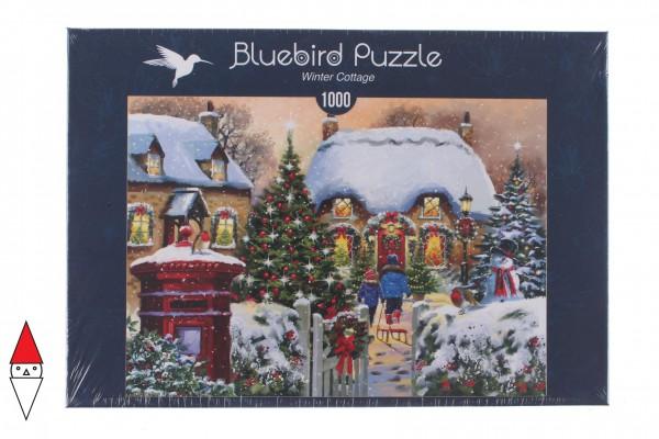 BLUEBIRD, BLUEBIRD-PUZZLE-70076, 3663384700767, PUZZLE TEMATICO BLUEBIRD NATALE WINTER COTTAGE 1000 PZ