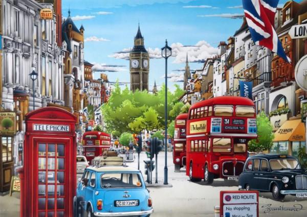 BLUEBIRD, BLUEBIRD-PUZZLE-70119, 3663384701191, PUZZLE PAESAGGI BLUEBIRD CITTA LONDON LONDRA 1000 PZ