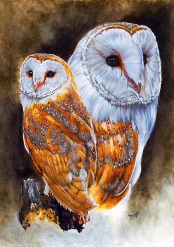 BLUEBIRD, BLUEBIRD-PUZZLE-70088, 3663384700880, PUZZLE ANIMALI BLUEBIRD GUFI LUSTROUS 1500 PZ
