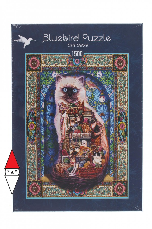 BLUEBIRD, BLUEBIRD-PUZZLE-70154, 3663384701542, PUZZLE ANIMALI BLUEBIRD GATTI CATS GALORE 1500 PZ