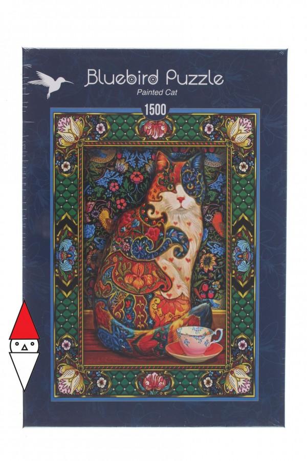 BLUEBIRD, BLUEBIRD-PUZZLE-70152, 3663384701528, PUZZLE ANIMALI BLUEBIRD GATTI PAINTED CAT 1500 PZ