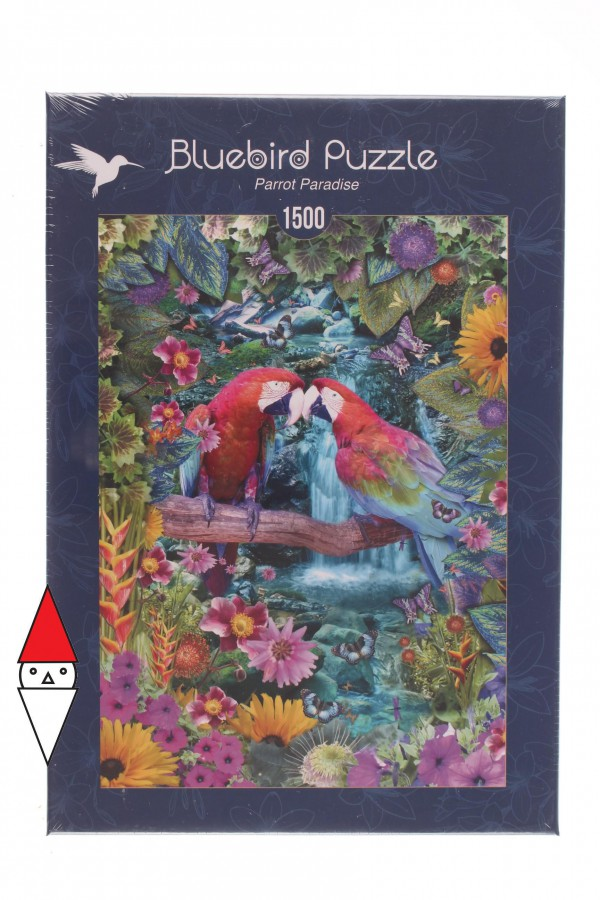 BLUEBIRD, BLUEBIRD-PUZZLE-70138, 3663384701382, PUZZLE ANIMALI BLUEBIRD PAPPAGALLI PARROT PARADISE 1500 PZ
