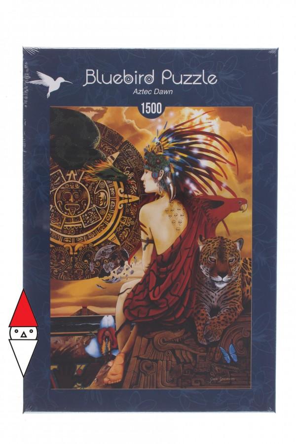 BLUEBIRD, BLUEBIRD-PUZZLE-70058, 3663384700583, PUZZLE TEMATICO BLUEBIRD STORIA AZTEC DAWN 1500 PZ