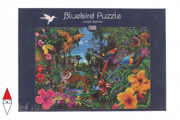 BLUEBIRD, BLUEBIRD-PUZZLE-70150, 3663384701504, PUZZLE PAESAGGI BLUEBIRD FORESTA JUNGLE SUNRISE 1500 PZ