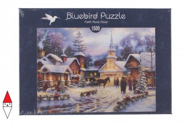 BLUEBIRD, BLUEBIRD-PUZZLE-70051, 3663384700514, PUZZLE TEMATICO BLUEBIRD NATALE FAITH RUNS DEEP 1500 PZ