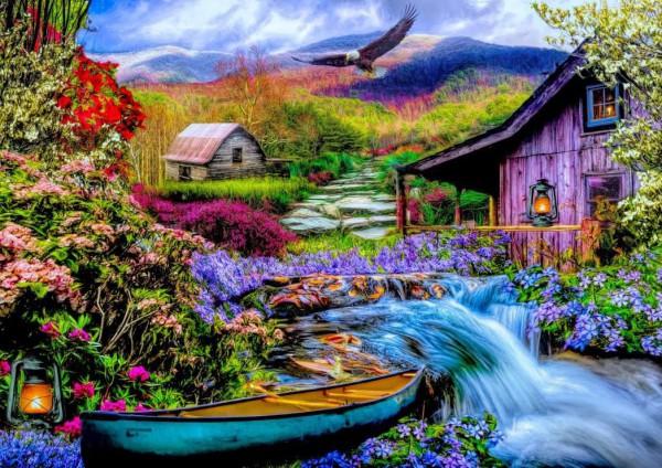 BLUEBIRD, BLUEBIRD-PUZZLE-70210, 3663384702105, PUZZLE PAESAGGI BLUEBIRD FIUMI E CASCATE 1500 PZ