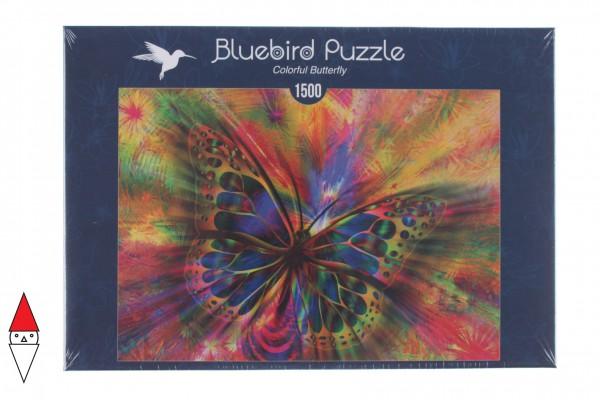 BLUEBIRD, BLUEBIRD-PUZZLE-70050, 3663384700507, PUZZLE ANIMALI BLUEBIRD FARFALLE COLORFUL BUTTERFLY 1500 PZ