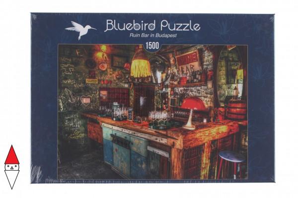 BLUEBIRD, BLUEBIRD-PUZZLE-70011, 3663384700118, PUZZLE TEMATICO BLUEBIRD BAR E RISTORANTI RUIN BAR IN BUDAPEST 1500 PZ
