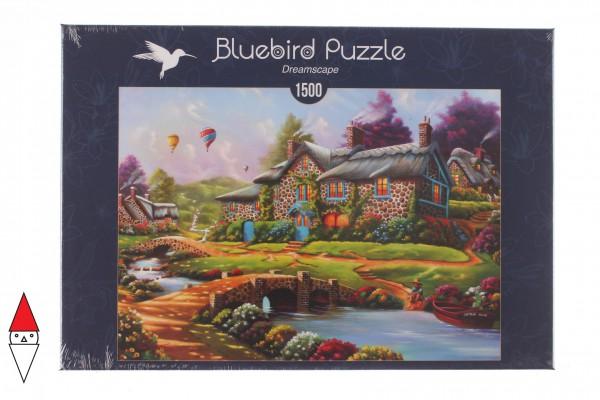 BLUEBIRD, BLUEBIRD-PUZZLE-70097, 3663384700972, PUZZLE EDIFICI BLUEBIRD COTTAGES E CHALETS DREAMSCAPE 1500 PZ