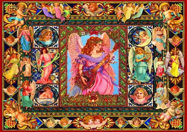 BLUEBIRD, BLUEBIRD-PUZZLE-70027, 3663384700279, PUZZLE TEMATICO BLUEBIRD ANGELI ANTIQUE ANGELS 1500 PZ