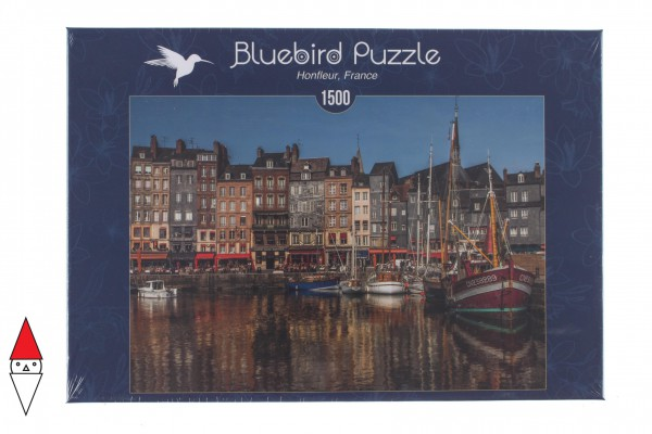 BLUEBIRD, BLUEBIRD-PUZZLE-70040, 3663384700408, PUZZLE PAESAGGI BLUEBIRD PORTI HONFLEUR, FRANCEEUR 1500 PZ