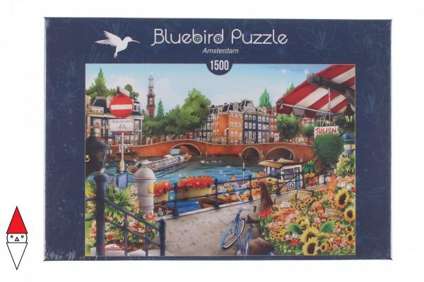 BLUEBIRD, BLUEBIRD-PUZZLE-70143, 3663384701436, PUZZLE PAESAGGI BLUEBIRD CITTA AMSTERDAM 1500 PZ