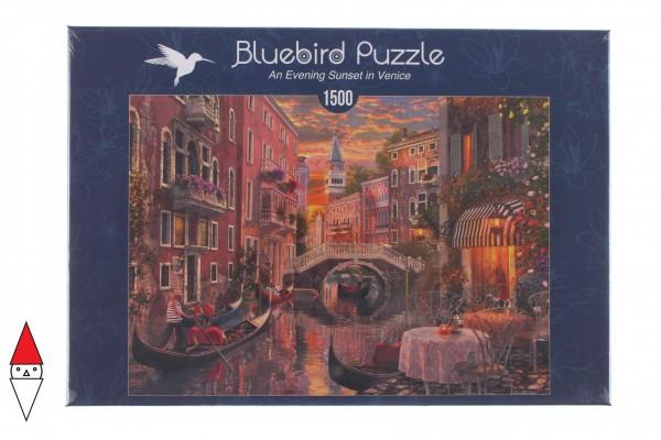 BLUEBIRD, BLUEBIRD-PUZZLE-70115, 3663384701153, PUZZLE PAESAGGI BLUEBIRD CITTA AN EVENING SUNSET IN VENICE VENEZIA 1500 PZ