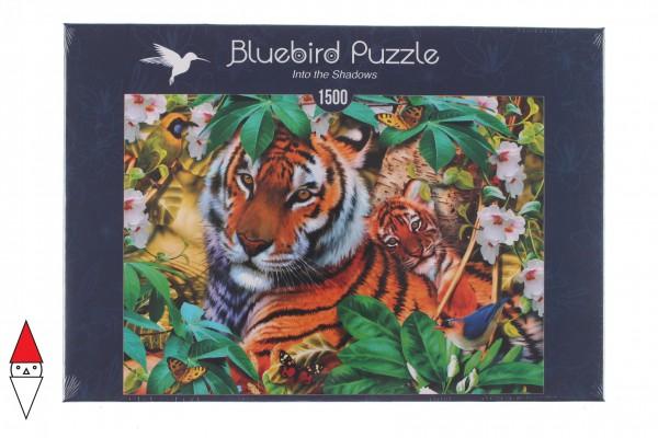 BLUEBIRD, BLUEBIRD-PUZZLE-70289, 3663384702891, PUZZLE ANIMALI BLUEBIRD TIGRI INTO THE SHADOWS 1500 PZ